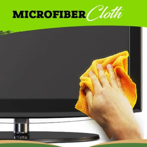 How to Clean Flat Screen TV with a microfiber cloth