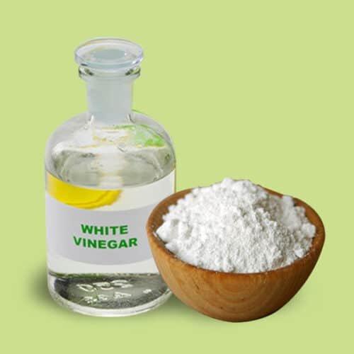 how to clean toilet tank: vinegar baking soda