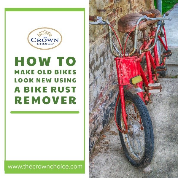 How to Make Old Bikes Look New Using a Bike Rust Remover: Red rusty bikes leaning on a wall