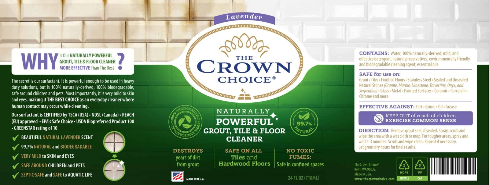 The Crown Choice Best Grout Cleaner Kit 6