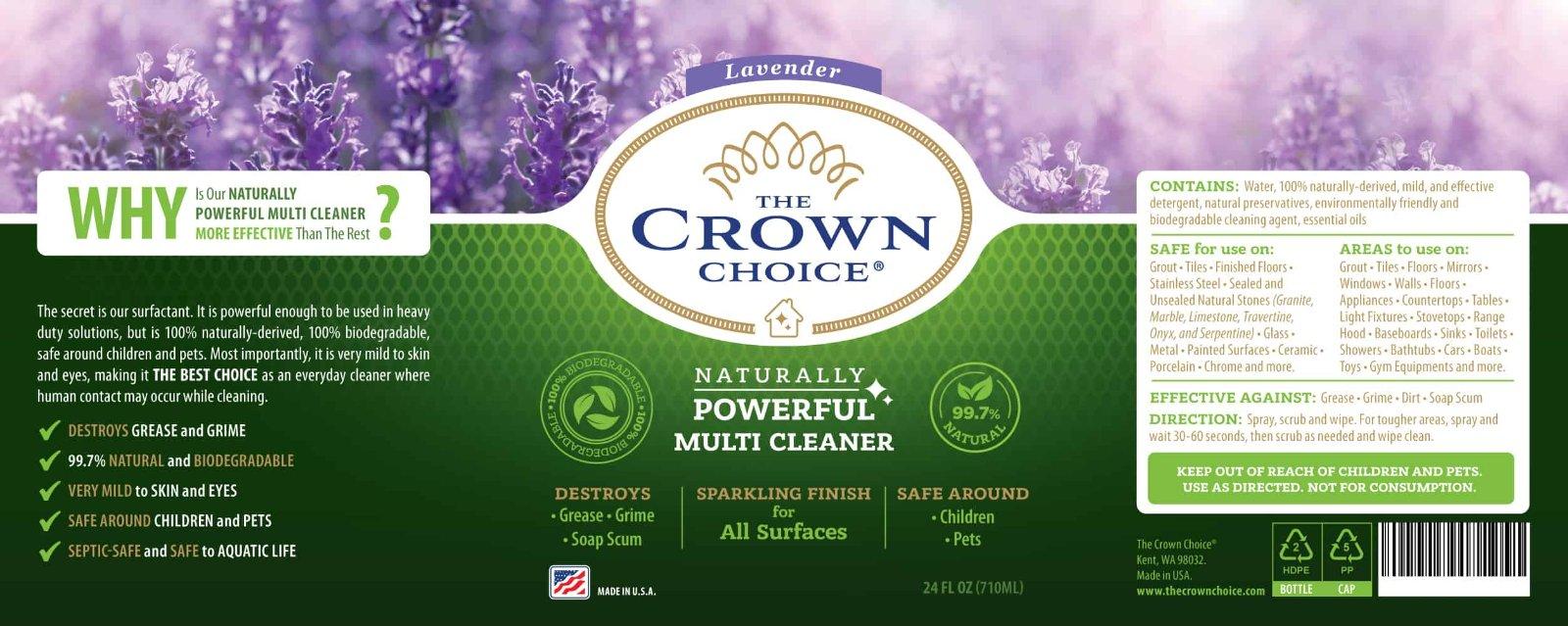 Lavender Multi Purpose Cleaner -The Crown Choice Multi Purpose Cleaner 10