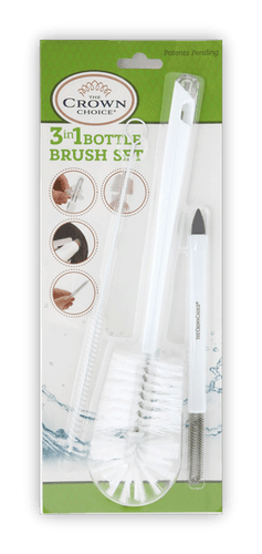 Baby Bottle Cleaner Brush - The best 3-in-1 cleaning set for your baby bottle needs