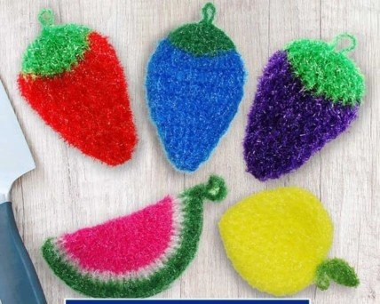 Eggplant Dish Scrubbie | Vegetable Crocheted Scrubber