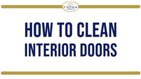 How to Clean Interior Doors