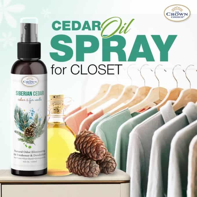 cedar oil spray