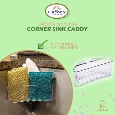 space saving corner sink caddy