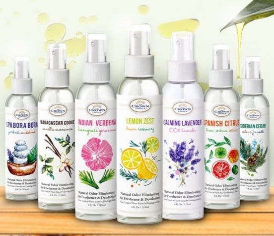 Natural Essential Oil Deluxe Air Freshener Set – 8 Pack. One of each scent