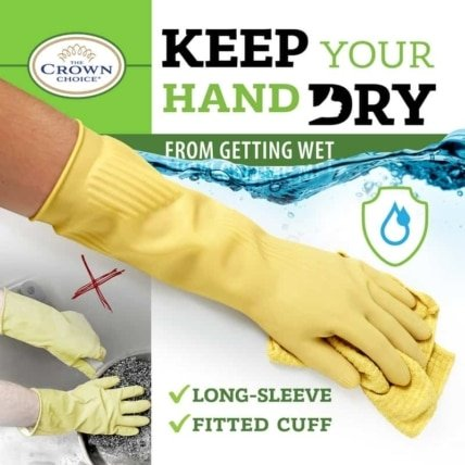 Biodegradable long all purpose gloves (3PK)—Long and Thick All Purpose for Cleaning, Dish Washing and Hand Protection 5