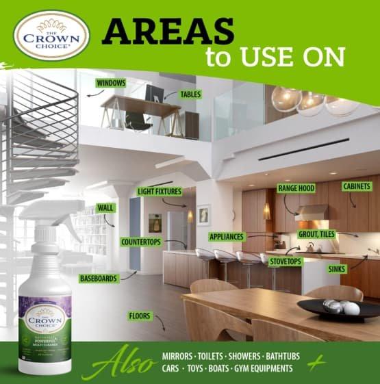 Lavender Multi Purpose Cleaner -The Crown Choice Multi Purpose Cleaner 12