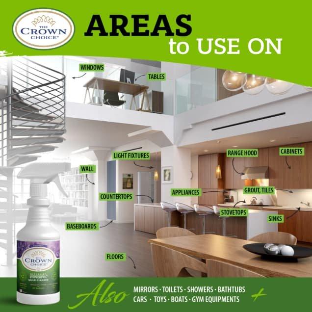 Lavender Multi Purpose Cleaner -The Crown Choice Multi Purpose Cleaner 7