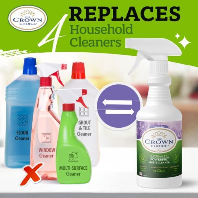 Lavender Multi Purpose Cleaner -The Crown Choice Multi Purpose Cleaner 5