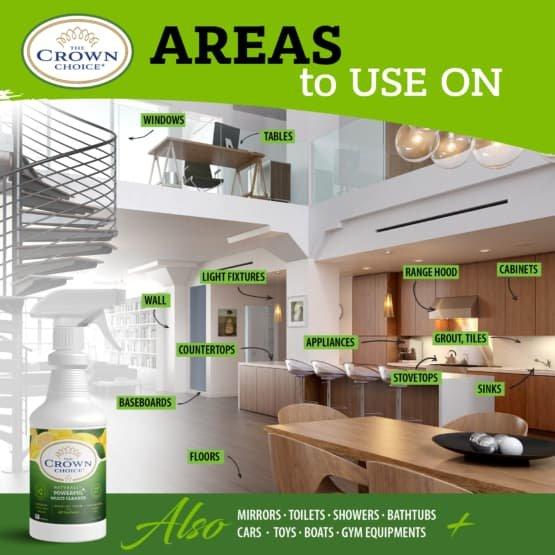 Natural Lemon Zest Multi Cleaner Spray – Essential Oil Lemon Zest Scent 12
