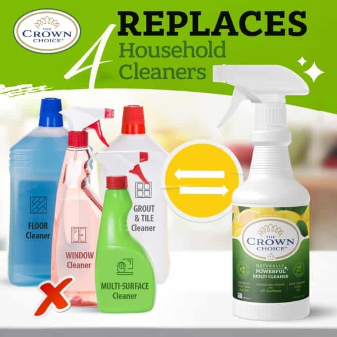 Natural Lemon Zest Multi Cleaner Spray – Essential Oil Lemon Zest Scent 5