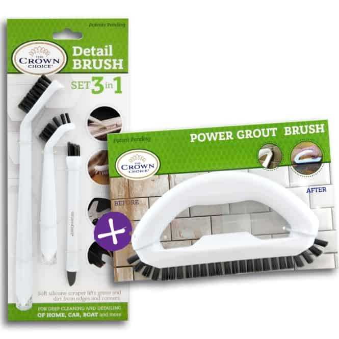 The Crown Choice Best Grout Cleaner Kit 4