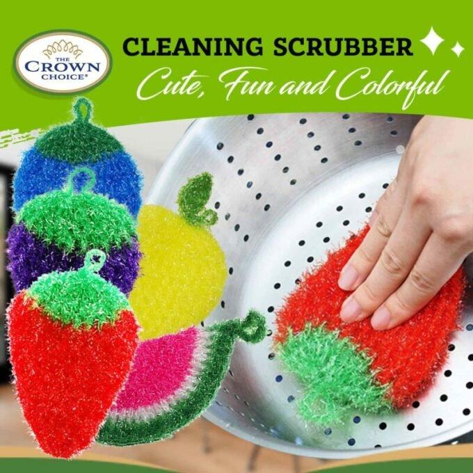 crochet scrubber set