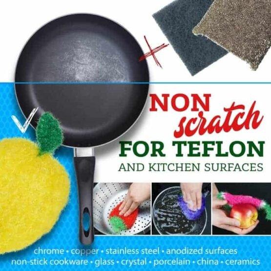 non-scratch safe kitchen sponge alternative dish crochet scrubbies