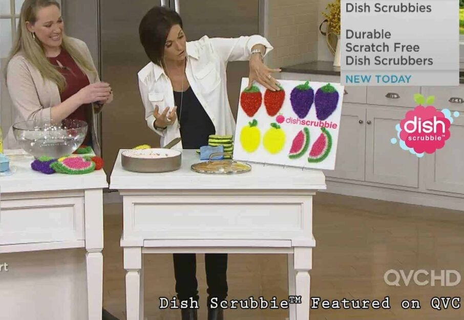 Strawberry Scrubbie - No odor cloth scrubber, sponge alternative 3