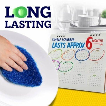 long lasting durable kitchen scrubber