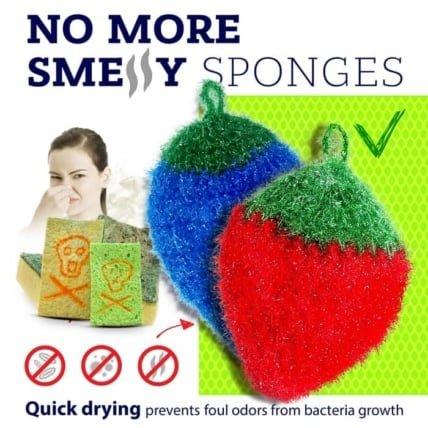 dish scrubbie no more smelly sponges