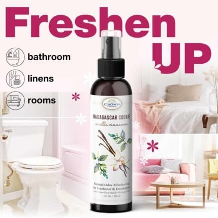 All Natural Air Freshener Spray Gift Set (4 Pack)   Bathroom Deodorizer, Room Refreshener