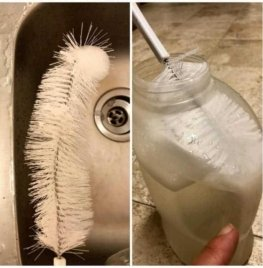 Water Bottle Cleaner with Straw Brush Set – 16″ long and fits inside narrow necks like beer and wine bottles 5