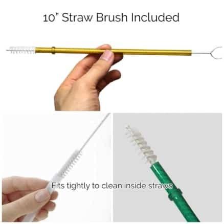 straw brush for plastic reusable straws