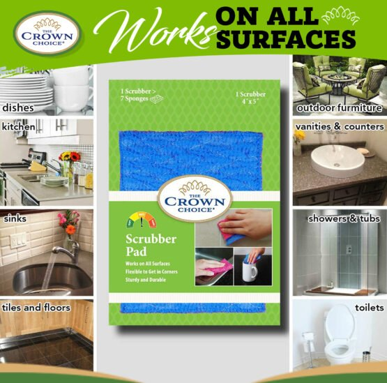 Kitchen Sponge Alternative - Dish Scrubber Pad for Dishwashing, Scrubbing, Cleaning 6
