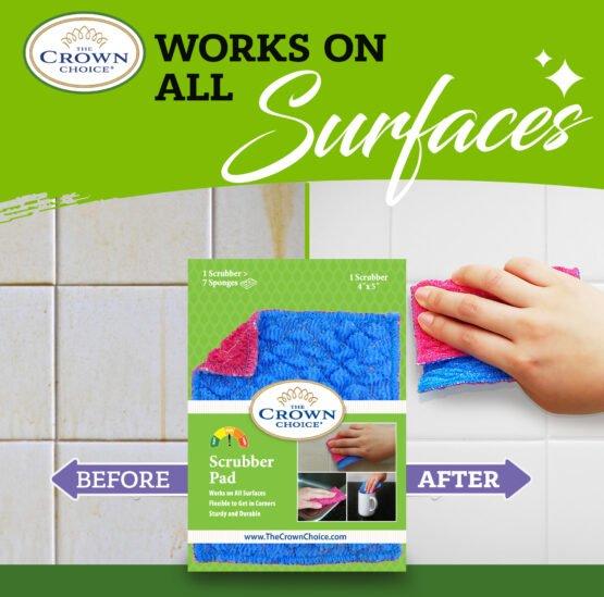 Kitchen Sponge Alternative - Dish Scrubber Pad for Dishwashing, Scrubbing, Cleaning 5