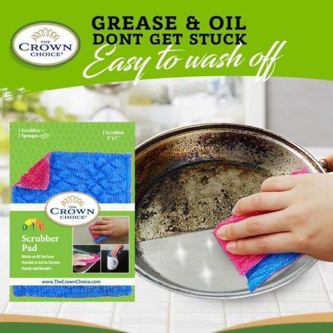 Kitchen Sponge Alternative - Dish Scrubber Pad for Dishwashing, Scrubbing, Cleaning 3