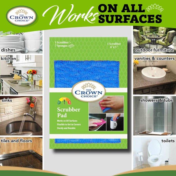 Kitchen Sponge Alternative - Dish Scrubber Pad for Dishwashing, Scrubbing, Cleaning 4