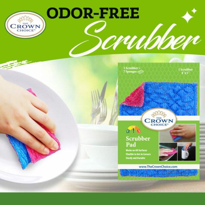 Kitchen Sponge Alternative - Dish Scrubber Pad for Dishwashing, Scrubbing, Cleaning 2