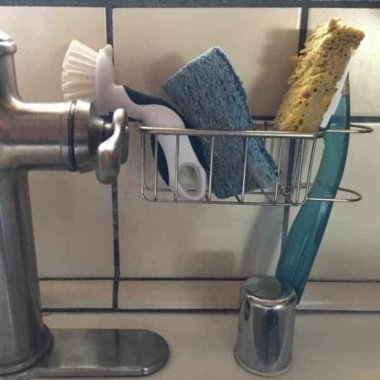Best Kitchen Sink Caddy - Tidy your sink with this 2-in-1 in brush and kitchen sponge caddy 7