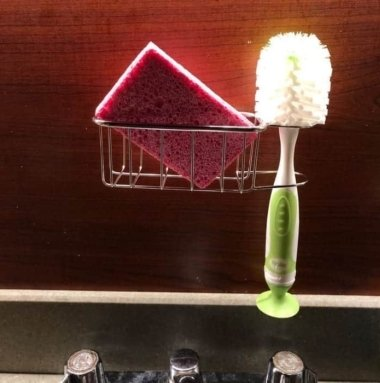 Best Kitchen Sink Caddy - Tidy your sink with this 2-in-1 in brush and kitchen sponge caddy 9