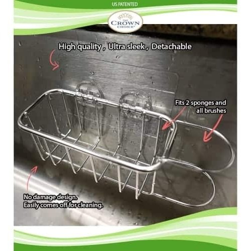 Best Kitchen Sink Caddy - Tidy your sink with this 2-in-1 in brush and kitchen sponge caddy 5