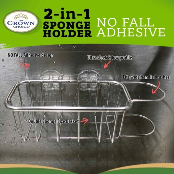 Best Kitchen Sink Caddy - Tidy your sink with this 2-in-1 in brush and kitchen sponge caddy 2