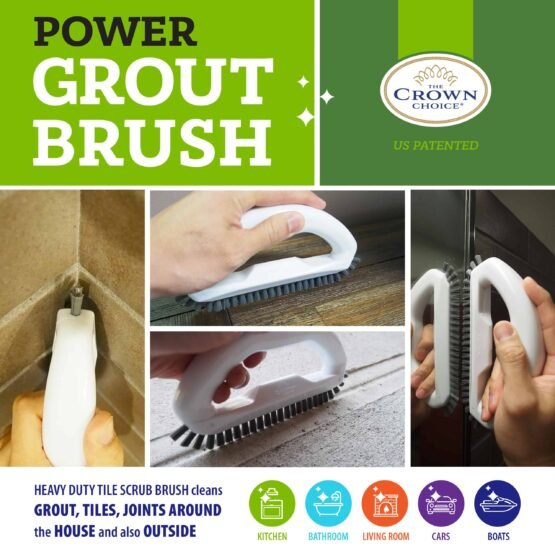 Grout Brush - Say goodbye to dirty grout with this grout cleaning brush 6