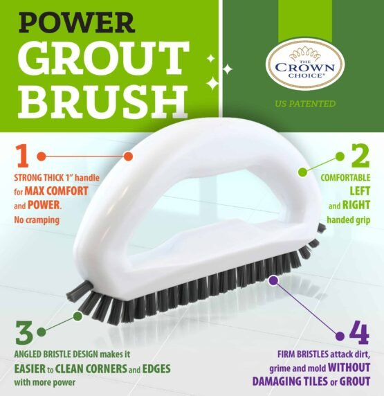 Grout Brush - Say goodbye to dirty grout with this grout cleaning brush 7