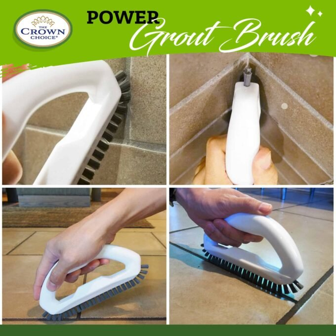 Grout Brush - Say goodbye to dirty grout with this grout cleaning brush 5