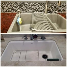 2-in-1 Kitchen Sink Caddy   Sponge + Dish Cloth Hanger Combo   Stainless Steel Uses Strong Adhesive 6