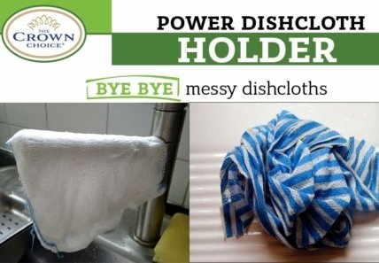 BEST Dish Cloth Holder Caddy for Kitchen Sink | Uses Detachable Adhesive 4