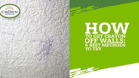 How to get crayons off walls