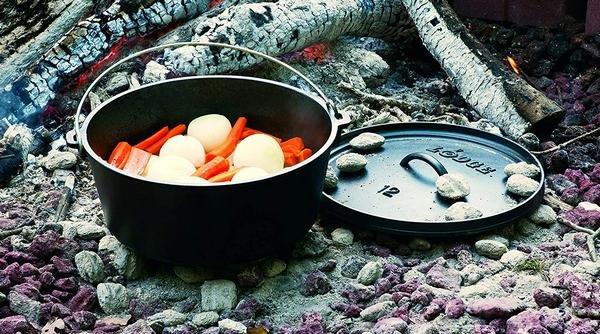 pot cooking session outdoors