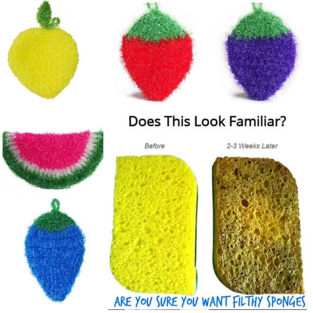 Sponges Vs Scrubbies - Is Nylon Netting for Scrubbies Better? 1