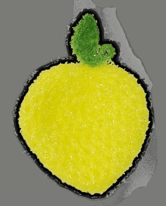 dish scrubbie lemon no odor scrubber
