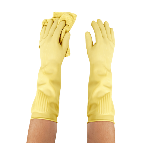 Biodegradable kitchen dishwashing gloves (5PK)—Long and Thick All Purpose for Cleaning, Dish Washing and Hand Protection 2