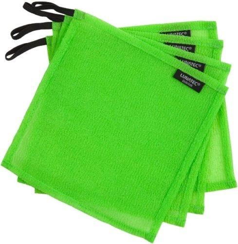 green lunatce dishcloth