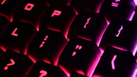 rgb violet keyboard