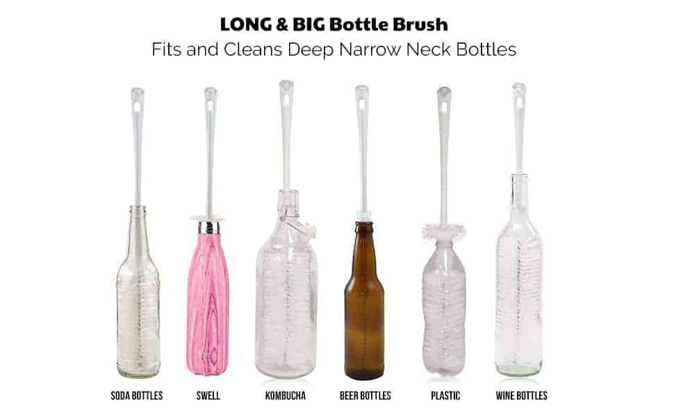demo of long bottle brush set in 6 bottles
