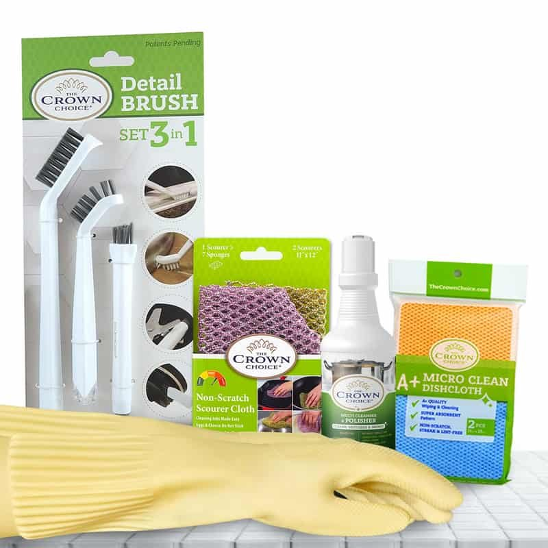 Best Stove Top Cleaner and Stainless Steel Polishing Set 6