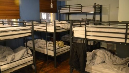 messy double deck beds
